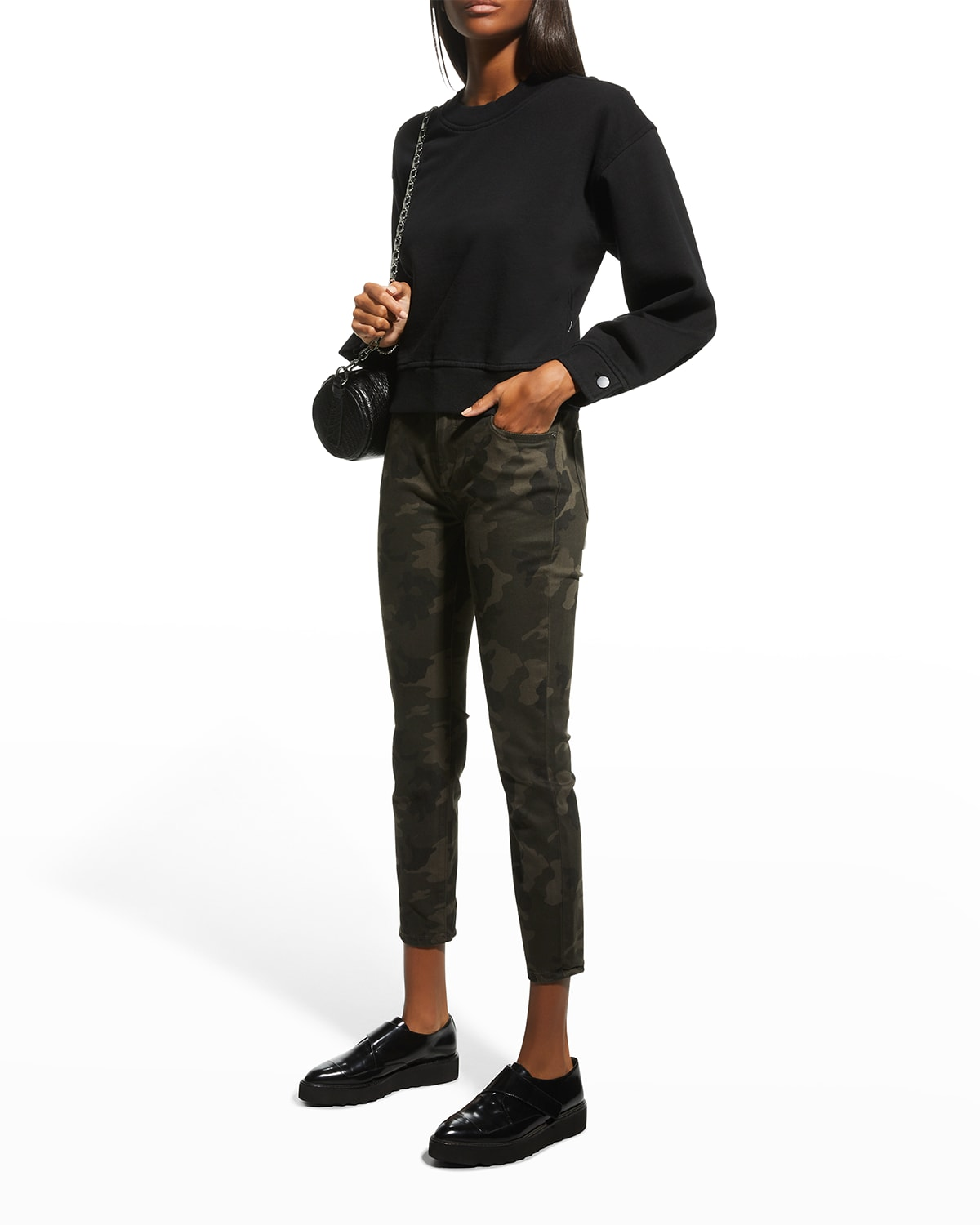 Florence Skinny Mid-Rise Crop Jeans