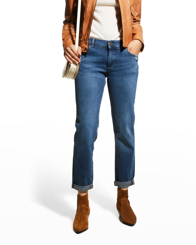 Riley Boyfriend Straight Jeans
