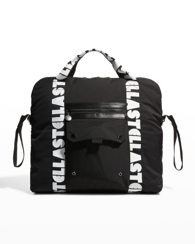 Logo Tape Zip Diaper Bag