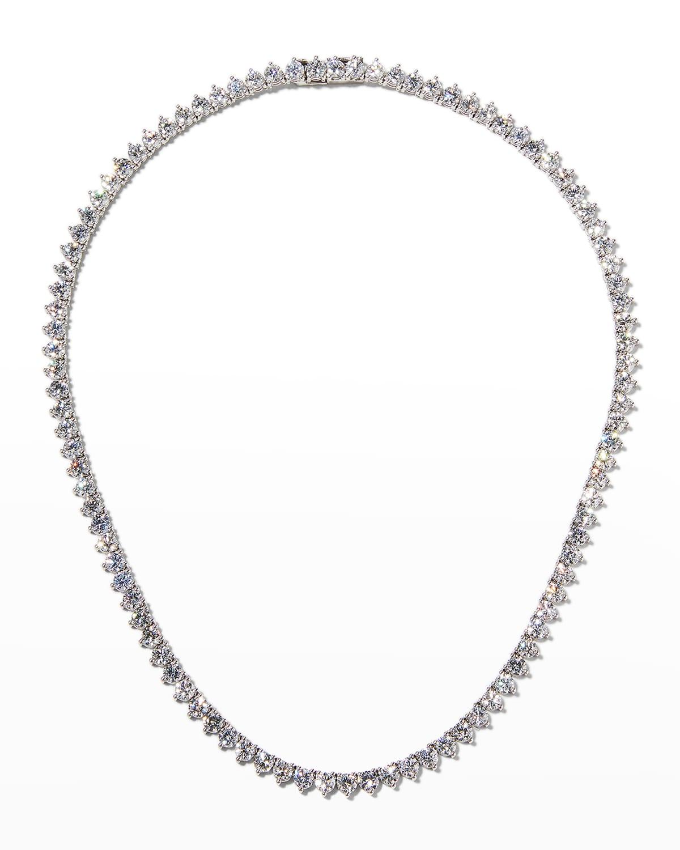 18k White Gold Diamond Opera Necklace