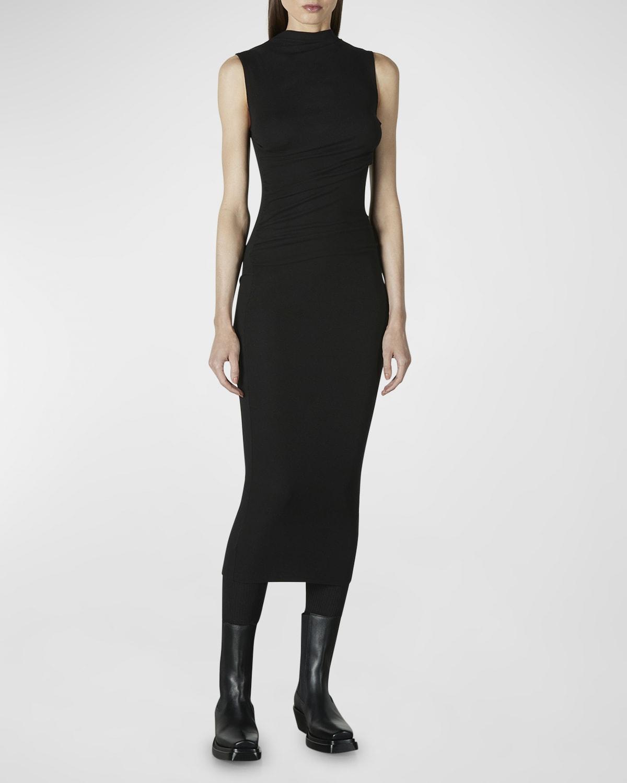 Sleeveless Twist Midi Dress