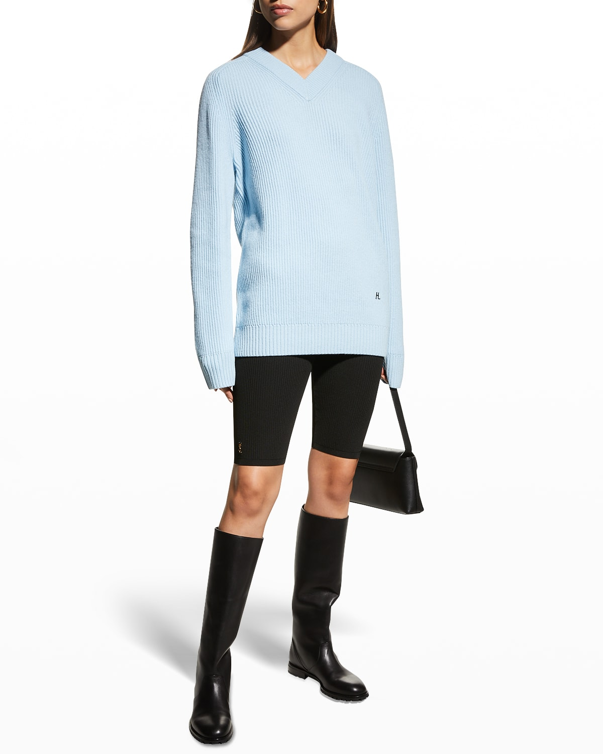Wool-Cashmere V-Neck Sweater