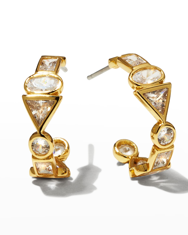 Mini Nova Crystal Hoop Earrings