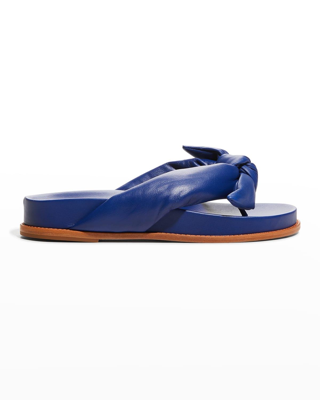 Clarita Puffy Knot Thong Sandals