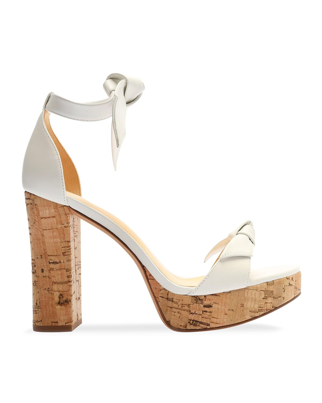Leather Double-Tie Cork Platform Sandals