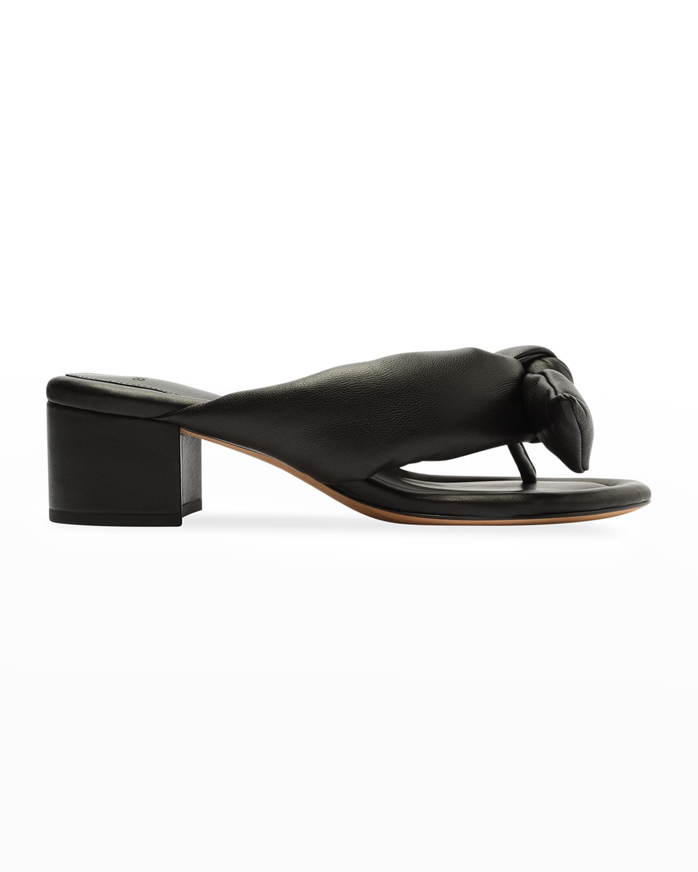 Clarita Puffy Knot Slide Sandals