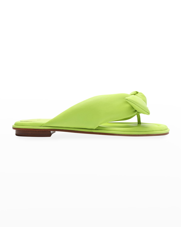 Clarita Puffy Knot Flat Sandals