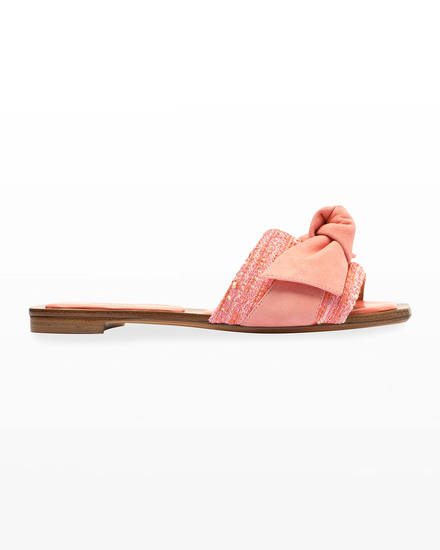 Maxi Clarita Suede Falt Knot Sandals