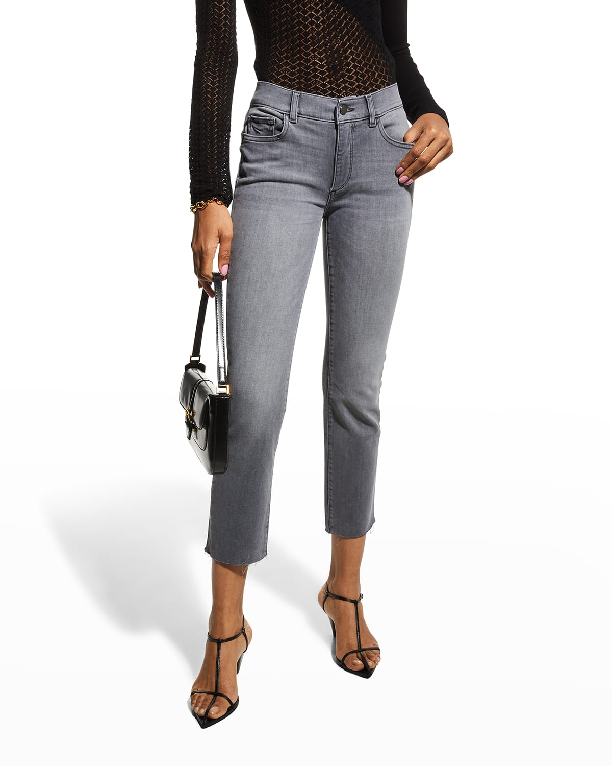 Mara Mid-Rise Ankle Straight Jeans
