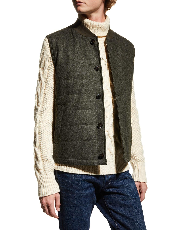 Men's Ronan Wool Quilted Vest