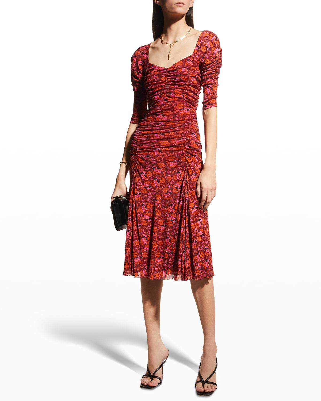 Dacey Ruched Midi Dress
