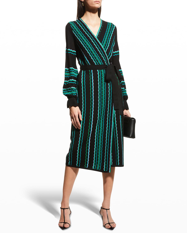 Gayle Midi Wrap Dress