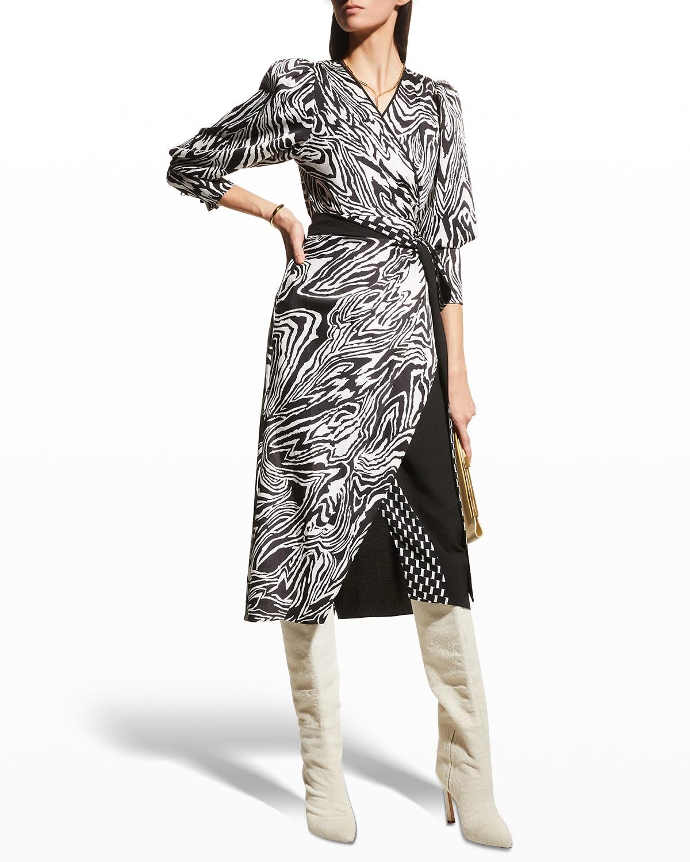 Juniper Midi Wrap Dress