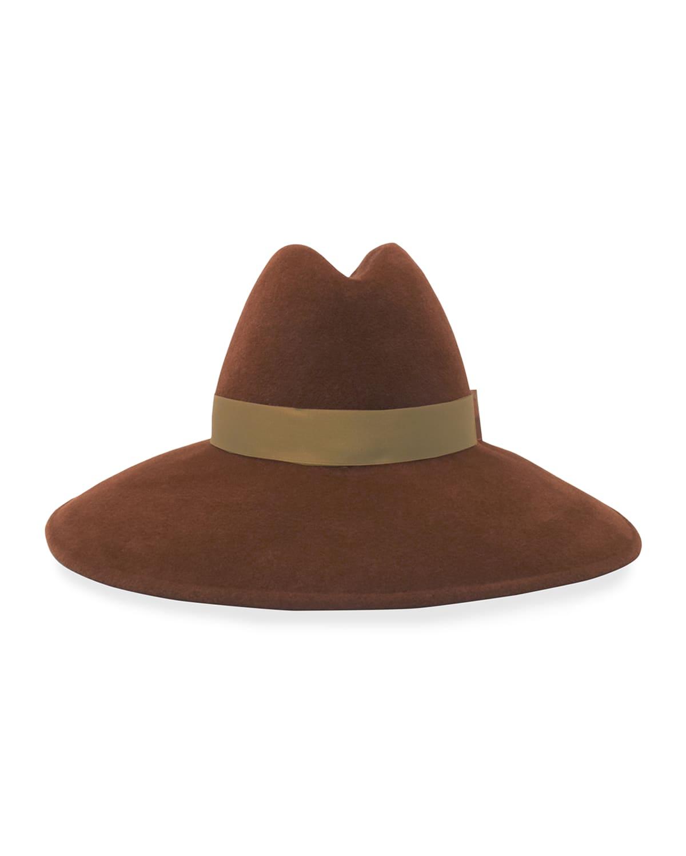 Requiem Wide-Brim Felt Fedora Hat