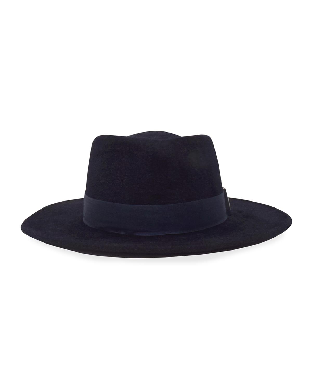 Noelle Small Brim Rabbit Felt Fedora Hat