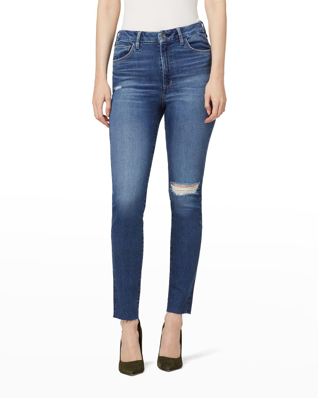 The Hi Honey Skinny Jeans w/ Raw Hem