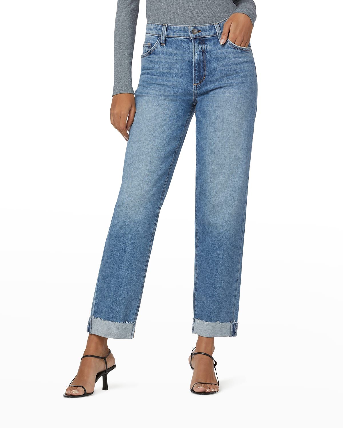 Petite The Niki Jeans with Raw Cuffs