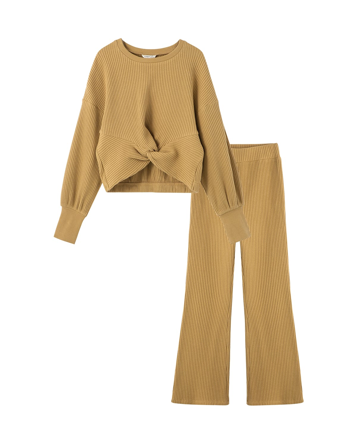Girl's Twist-Front Knit Two-Piece Sweater Set