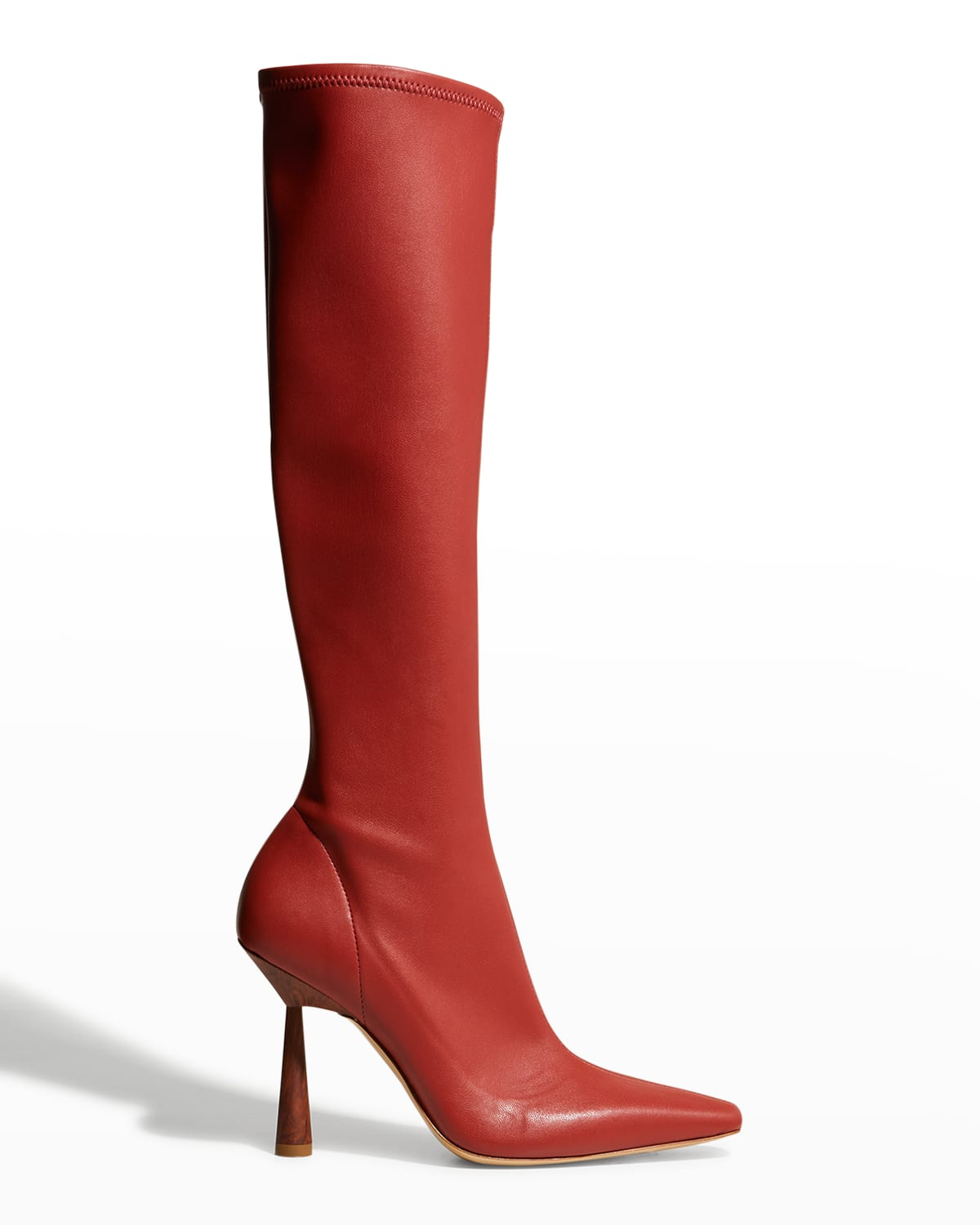 Rosie 100mm Stretch Faux Knee Boots