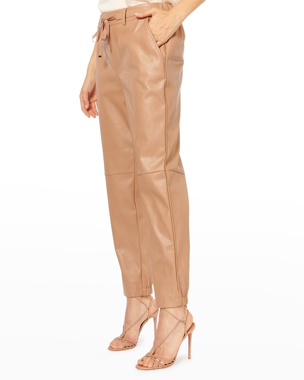 Adene Belted Vegan Leather Pants