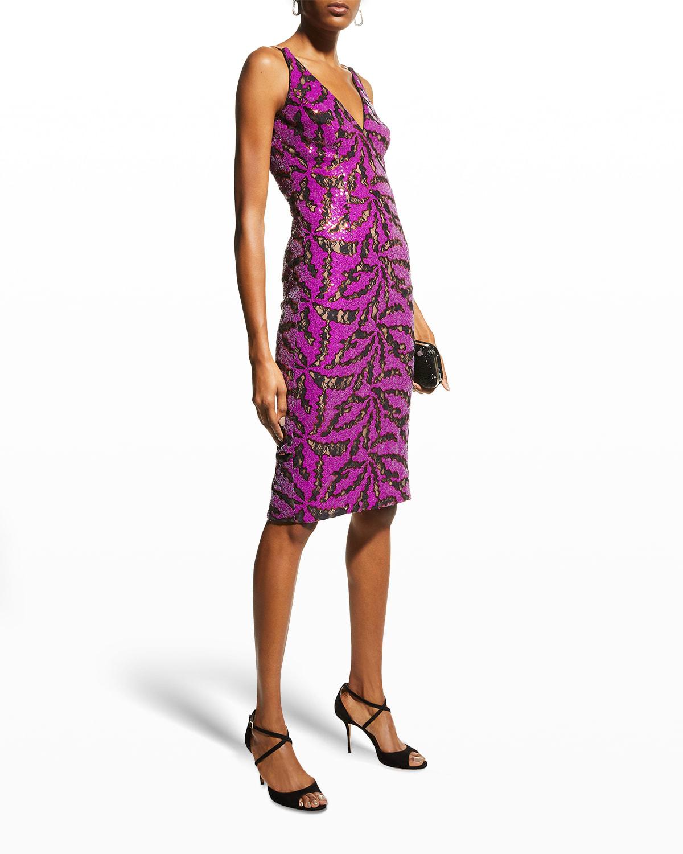 Luna Sequin-Embellished Bodycon Dress