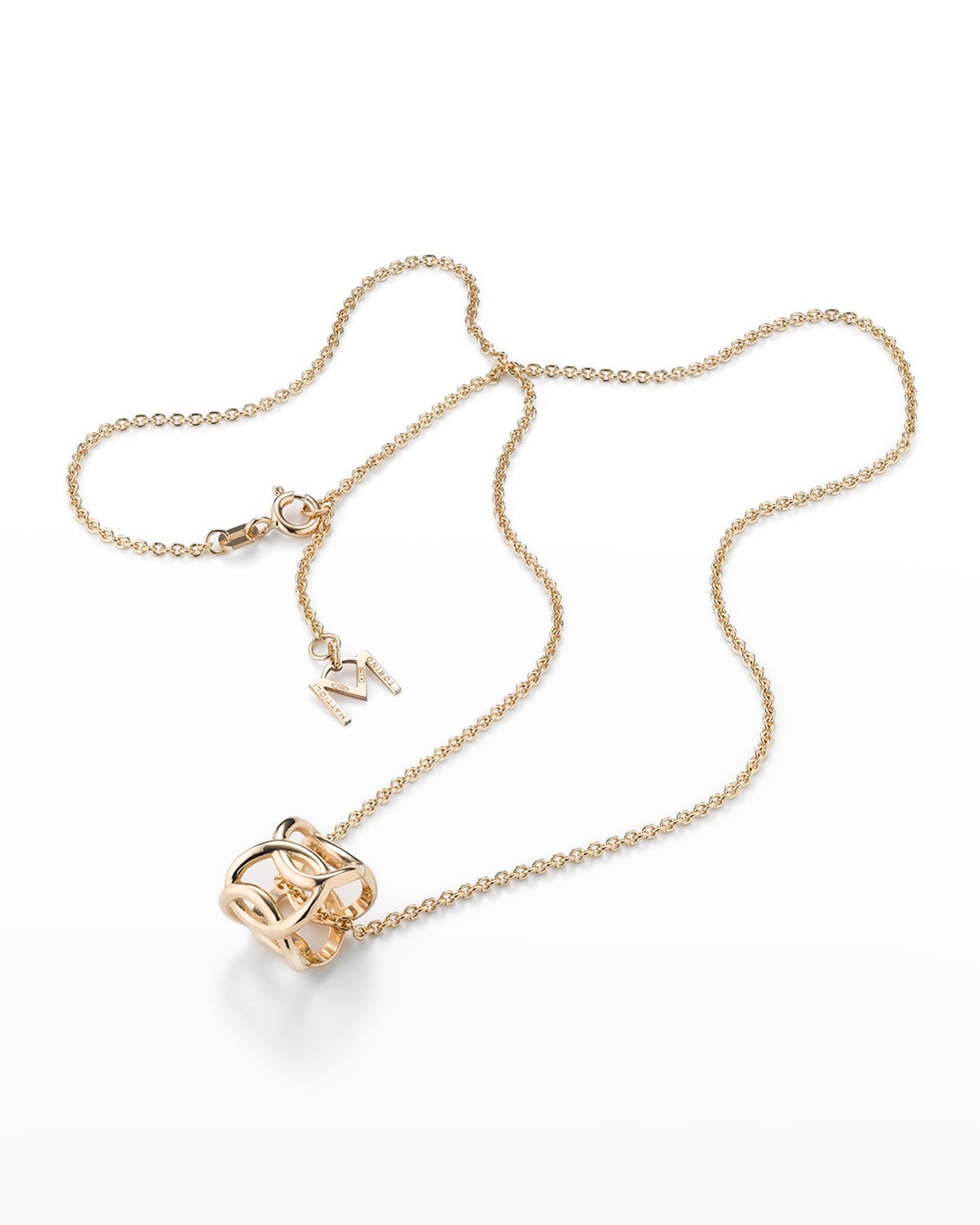 18K Rose Gold Hiroko Pendant Chain Necklace with 5-Oval Drop
