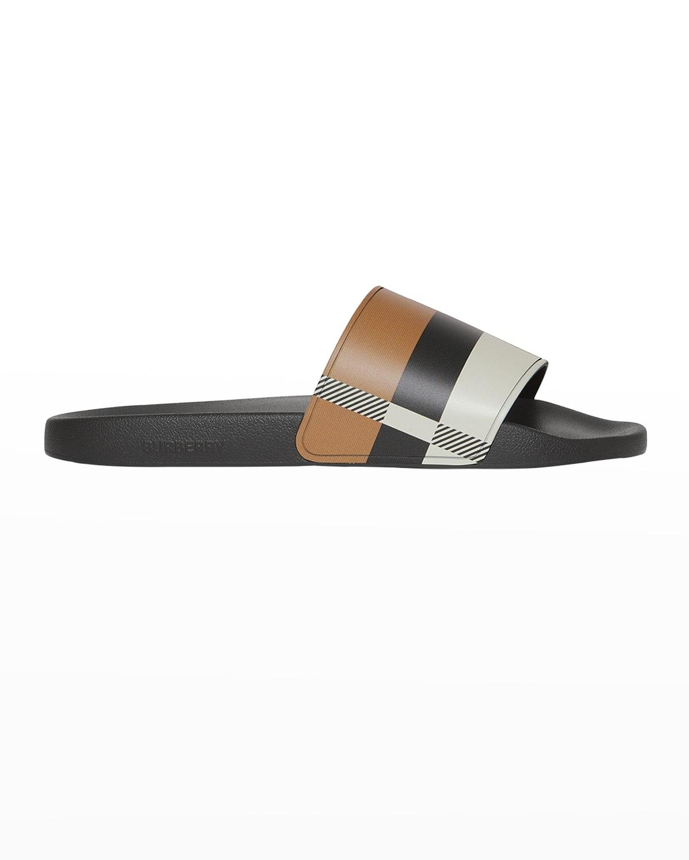 Men's Furley Exploded Check Slide Sandals