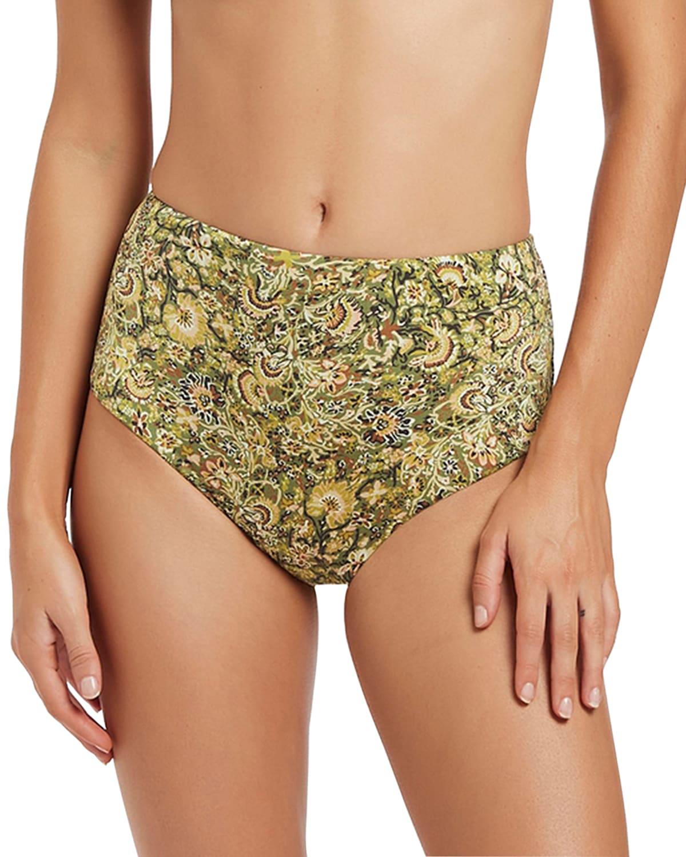 Majorelle High-Waist Bikini Bottoms