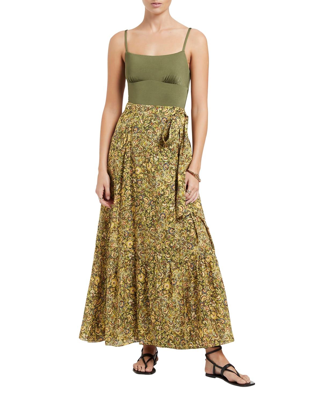 Majorelle Maxi Coverup Wrap Skirt