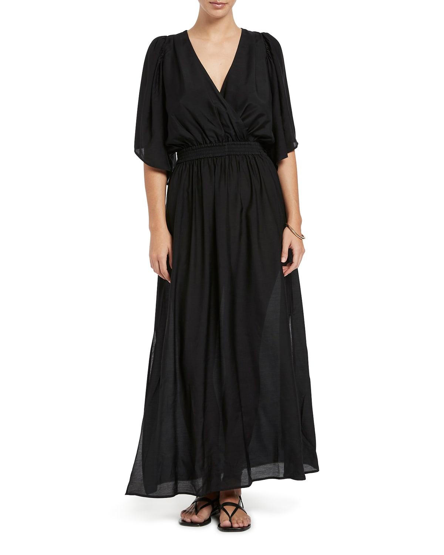 Jetset Full-Sleeve Maxi Coverup Dress