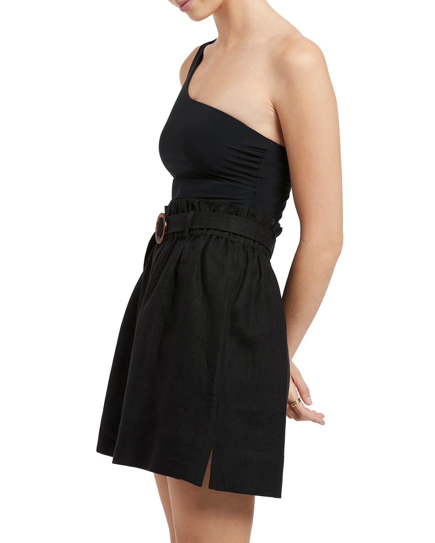 Jetset High-Waist Linen Shorts