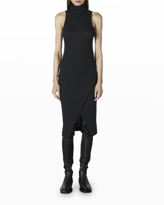 Cashmere Jersey Midi Wrap Skirt