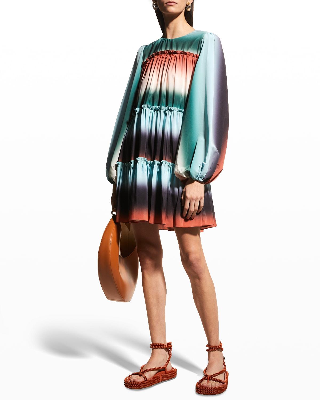 Leeann Tiered Mini Ruffle Dress