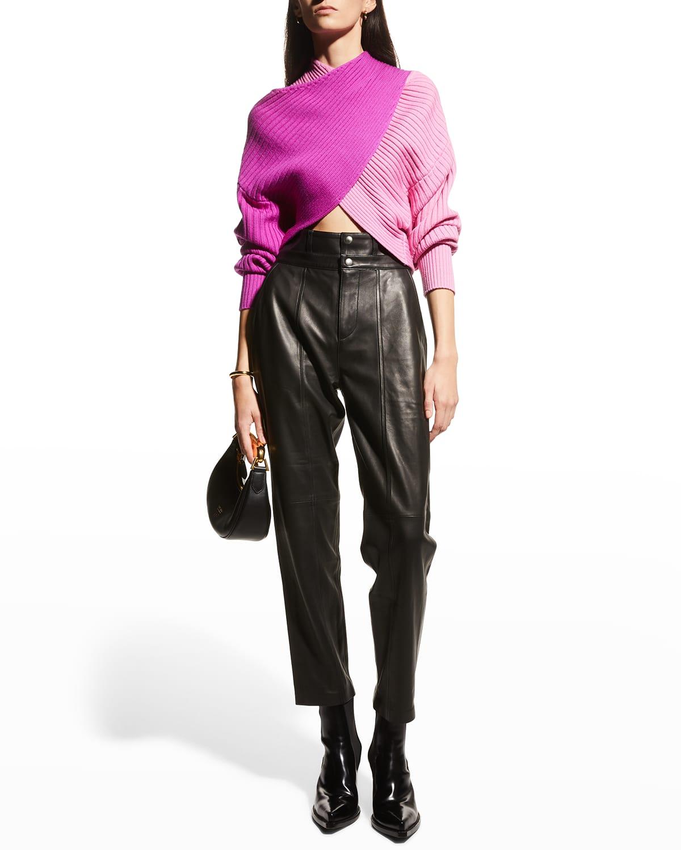 Merino Wool Colorblock Sweater