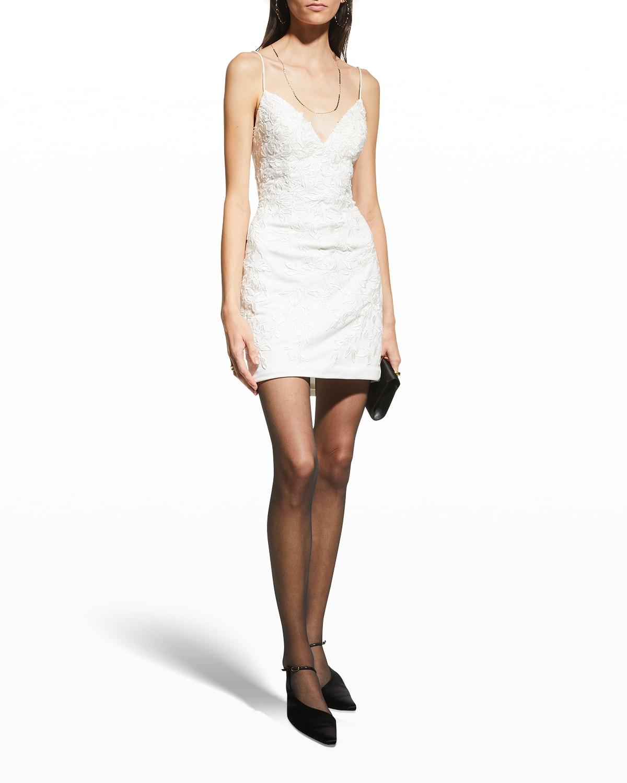 Lace-Up Open Back Tulle Mini Dress
