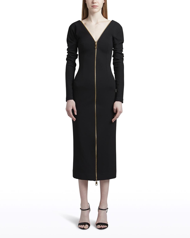 Zipper Midi Dress