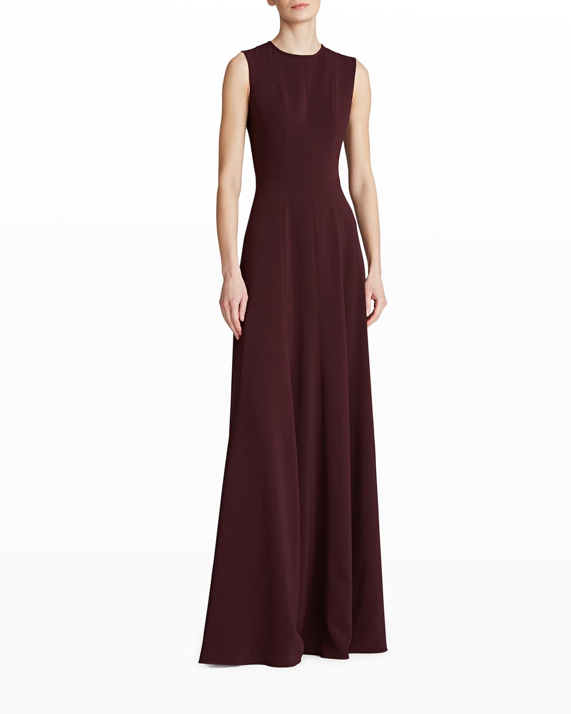 Iris Cutout-Back Crepe Gown
