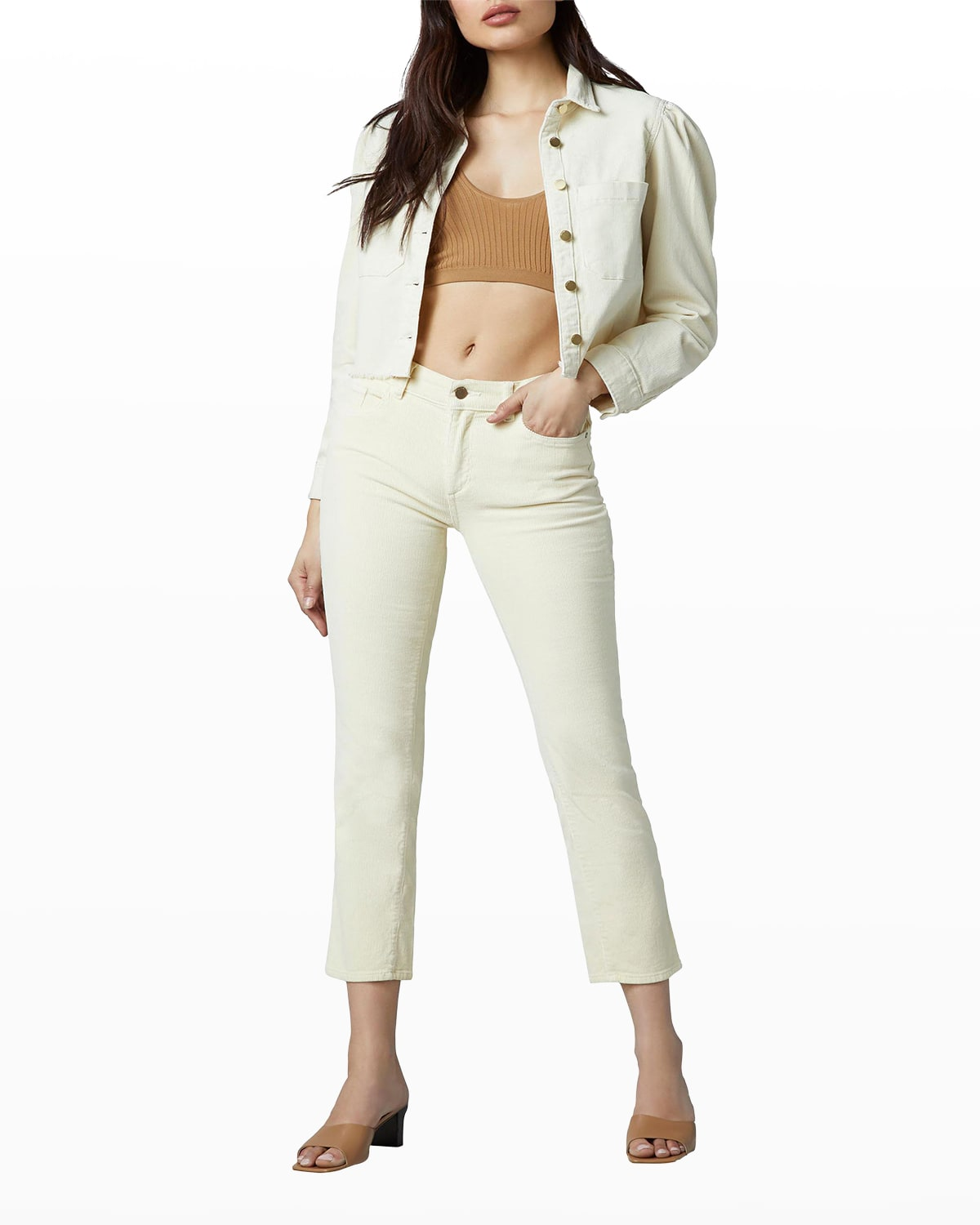 Mara Straight Mid-Rise Ankle Jeans