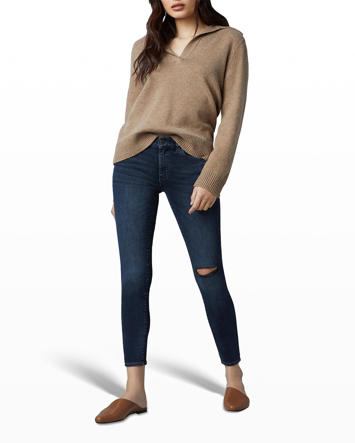 Florence Skinny Mid-Rise Ankle Jeans