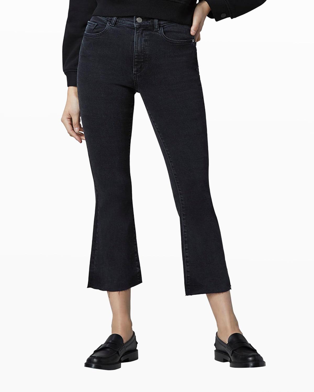 Bridget High-Rise Crop Boot-Cut Jeans