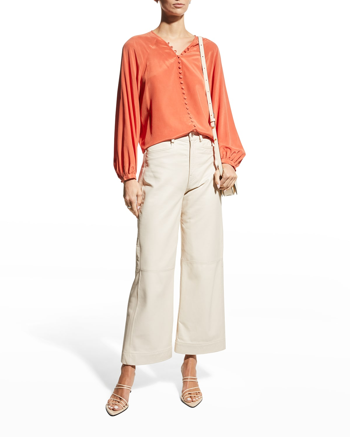 Shariana Button-Front Blouse