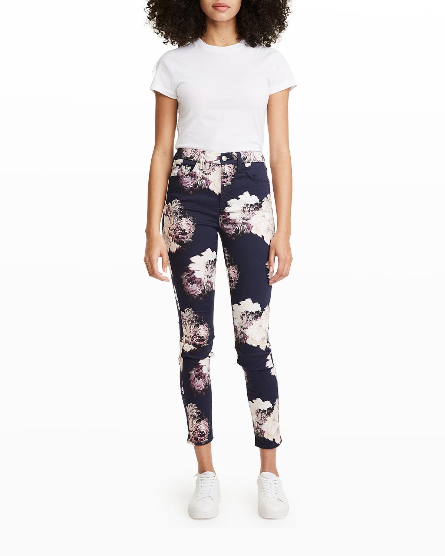 Printed Sateen Skinny Jeans
