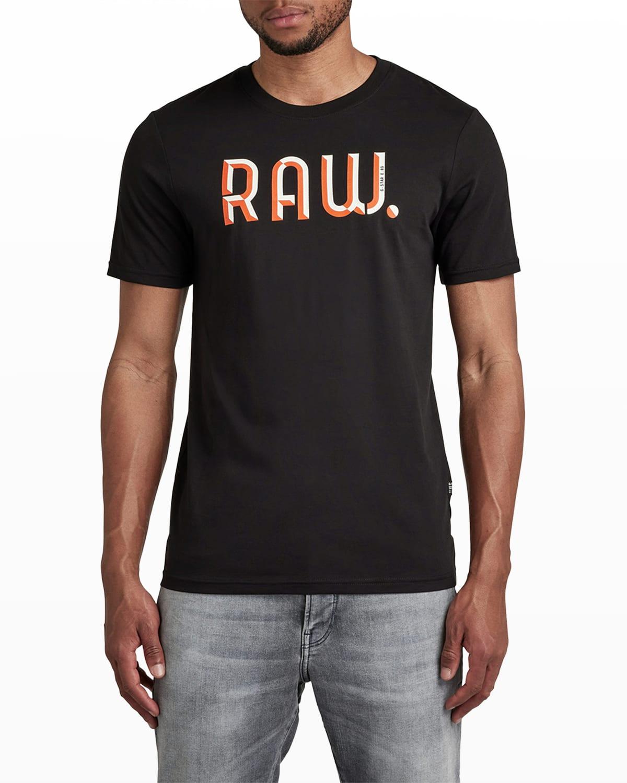 Men's 3D Raw Slim T-Shirt