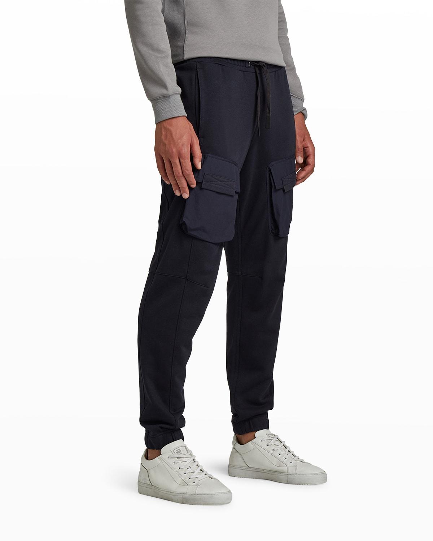Men's Mixed Woven Cargo Sweatpants