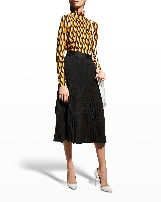 Paris Pleated Midi Skirt