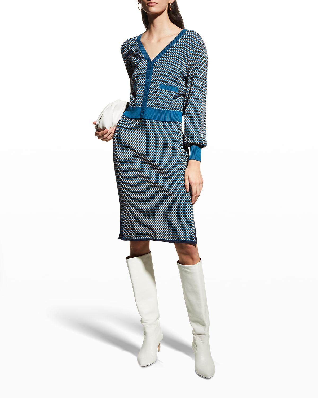Bryant Jacquard Cardigan Sweater