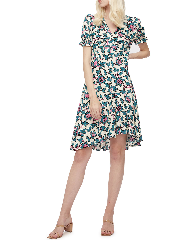 Alexis A-line Crepe Dress