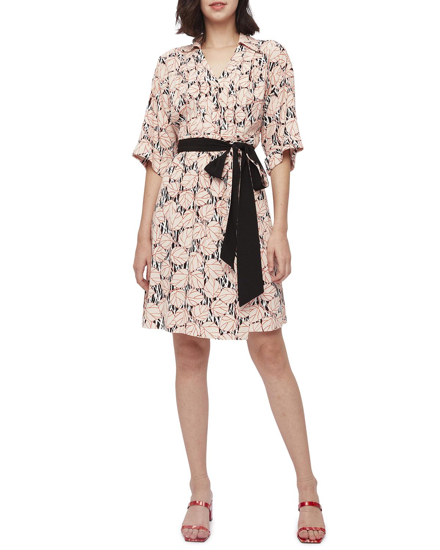 Christina Crepe Wrap Dress