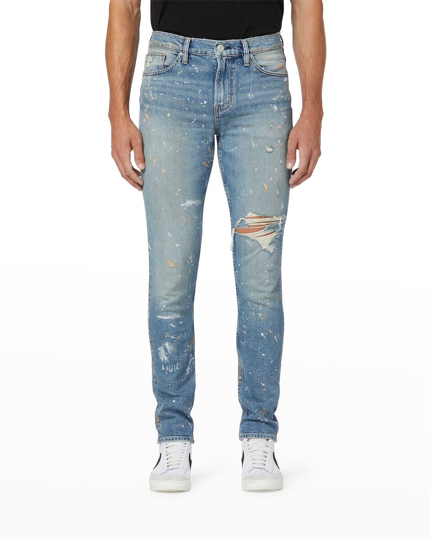Men's Axl Skinny Paint-Spot Jeans