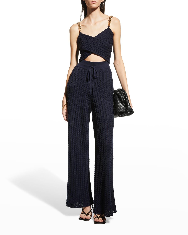 Wide-Leg Cotton-Wool Lounge Pants